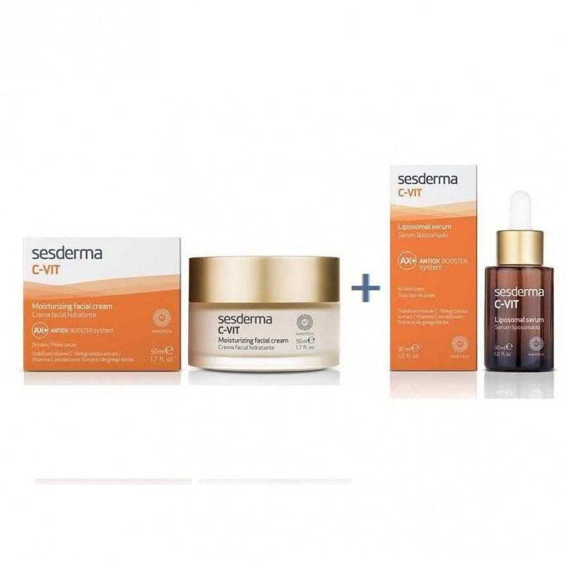 Zestaw Sesderma C-Vit AX Antiox Booster krem 50 ml + serum 30 ml