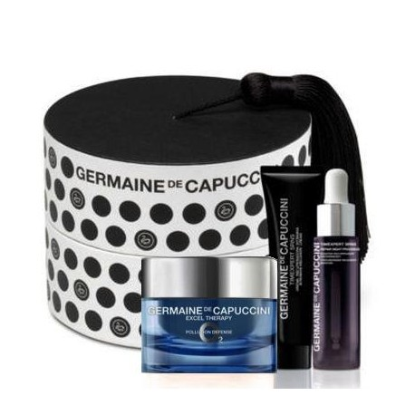 Zestaw Germaine de Capuccini Excel Therapy 02 Cream 50ml + SRNS Serum 7ml + SRNS Night Progress Eye 15ml